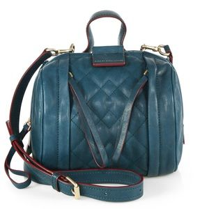 Marc Jacobs Quilted Leather Turquoise Moto Bag